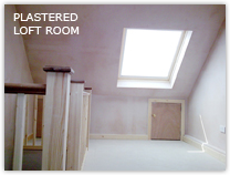 Plasterboarded and skimmed loft room Faygate RH12