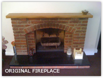 1960s fireplace removal in Crawley
